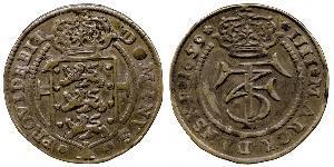 1 Krone / 4 Mark 丹麦 銀 弗雷德里克三世 (丹麦) (1609 -1670)