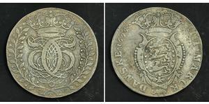1 Krone / 4 Mark Denmark Silver