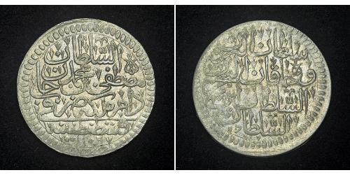 1 Kurush Impero ottomano (1299-1923) Argento Mustafa II