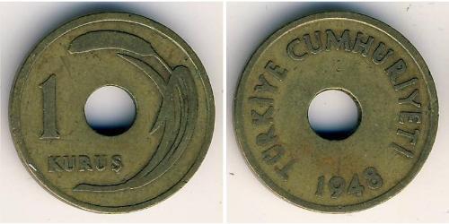 1 Kurush Turkey (1923 - ) Bronze