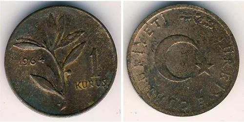 1 Kurush Turkey (1923 - ) Bronze
