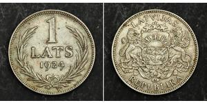 1 Lats Latvia Silver