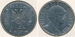 1 Lek Albanian Kingdom (1939-1943) Stainless steel Victor Emmanuel III of Italy (1869 - 1947)
