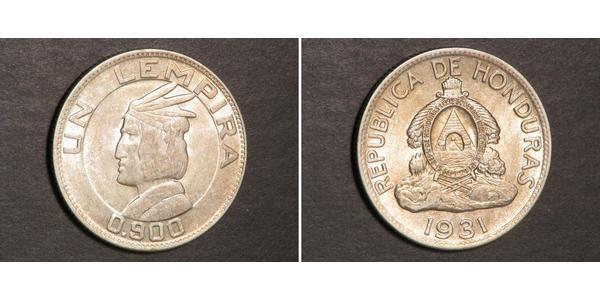 1 Lempira Honduras Argento