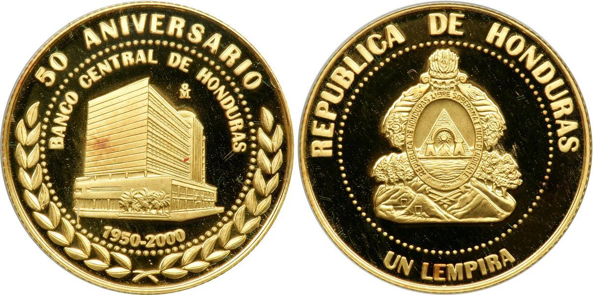Moneda 1 Lempira Honduras Oro 2000 Precio Km 90