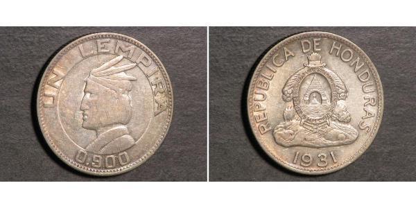 1 Lempira Honduras Plata
