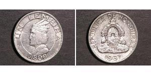1 Lempira Honduras Silver