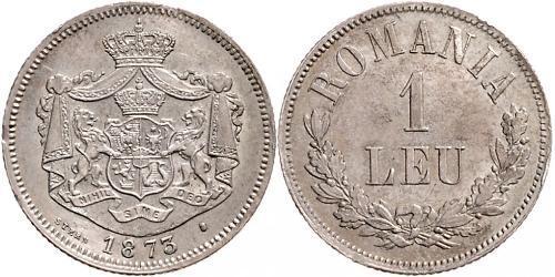 1 Leu Reino de Rumanía (1881-1947) Plata Carlos I de Rumania (1839 - 1914)