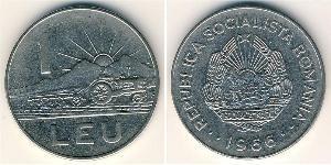 1 Lev Repubblica Socialista di Romania (1947-1989) Acciaio/Nichel