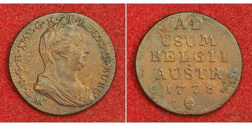 1 Liard Países Bajos Austríacos (1713-1795) Cobre Maria Theresa of Austria (1717 - 1780)