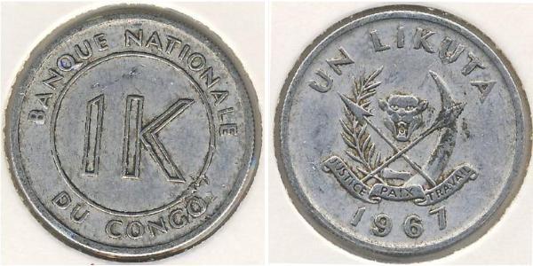 1 Likuta Democratic Republic of the Congo Aluminium
