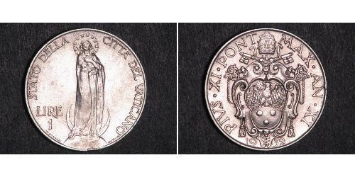 1 Lira 梵蒂冈 銀