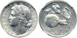1 Lira Italia Aluminio