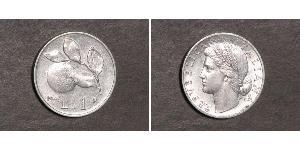 1 Lira Italien Aluminium