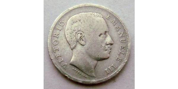 1 Lira Kingdom of Italy (1861-1946) Argent Vittorio Emanuele III (1869 - 1947)