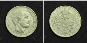 1 Lira Kingdom of Italy (1861-1946) Argento Vittorio Emanuele III (1869 - 1947)