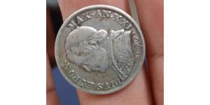 1 Lira Stato Pontificio (752-1870) Argento Papa Pio IX (1792- 1878)