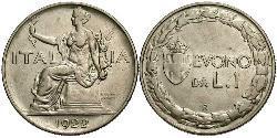 1 Lira Kingdom of Italy (1861-1946) Nickel
