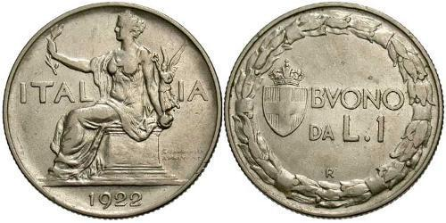 1 Lira Kingdom of Italy (1861-1946) Nickel