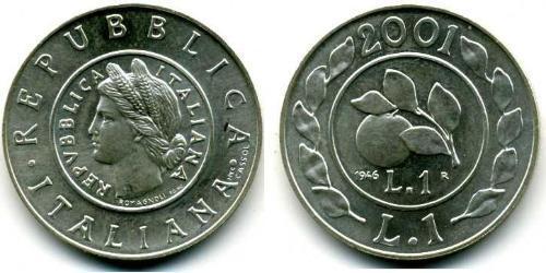 1 Lira Italien Silber
