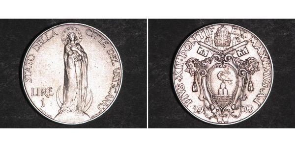 1 Lira 梵蒂冈 Stainless steel Pope Pius XII  (1876 - 1958)