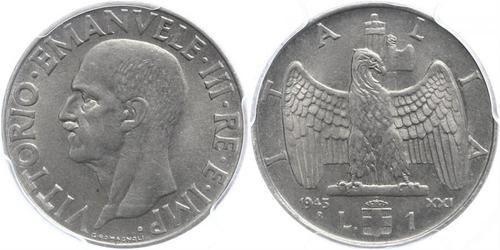 1 Lira Kingdom of Italy (1861-1946) Steel