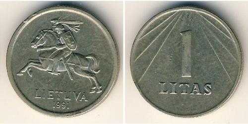 1 Litas 立陶宛 銅/镍