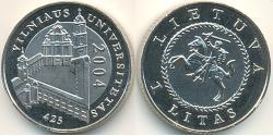 1 Litas Lithuania (1991 - ) Copper/Nickel