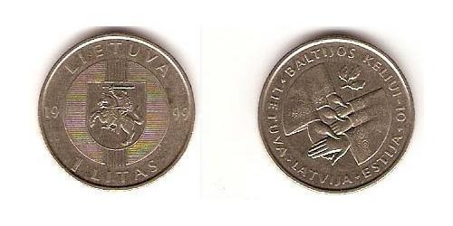 1 Litas Litauen (1991 - ) Kupfer/Nickel