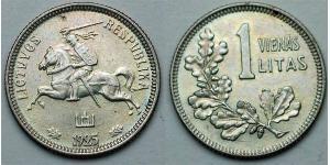 1 Litas Lituania (1991 - ) Plata