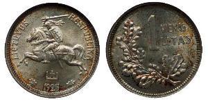 1 Litas Lithuania (1991 - ) Silver