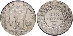 1 Livre Primera República Francesa  (1792-1804) Plata