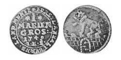 1 Mariengroschen Anhalt-Bernburg (1603 - 1863) Billon Victor Frederick, Prince of Anhalt-Bernburg (1700 – 1765)