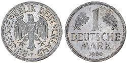 1 Mark 西德 (1949 - 1990) 銅/镍