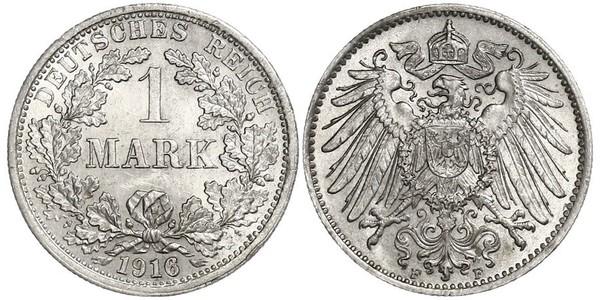 1 Mark Empire allemand (1871-1918) Argent