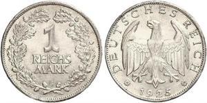 1 Mark République de Weimar (1918-1933) Argent