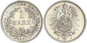 1 Mark Impero tedesco (1871-1918) Argento