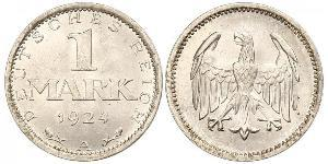 1 Mark Repubblica di Weimar (1918-1933) Argento