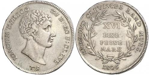 1 Mark Stati federali della Germania Argento