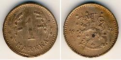 1 Mark Finland (1917 - ) Copper