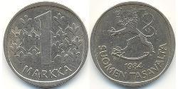 1 Mark Finland (1917 - ) Copper/Nickel