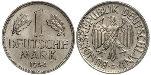 1 Mark West Germany (1949-1990) Copper/Nickel