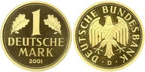 1 Mark Federal Republic of Germany (1990 - ) Gold