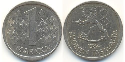 1 Mark Finnland (1917 - ) Kupfer/Nickel