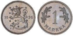 1 Mark Finland (1917 - ) Nickel