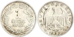 1 Mark República de Weimar (1918-1933) Plata