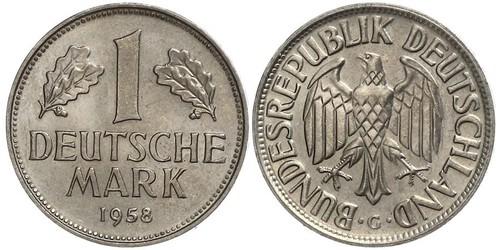 1 Mark Germania Ovest (1949-1990) Rame/Nichel
