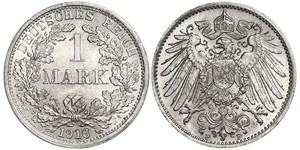 1 Mark Deutsches Kaiserreich (1871-1918) Silber