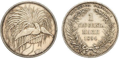 1 Mark Neuguinea Silber