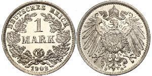 1 Mark German Empire (1871-1918) Silver